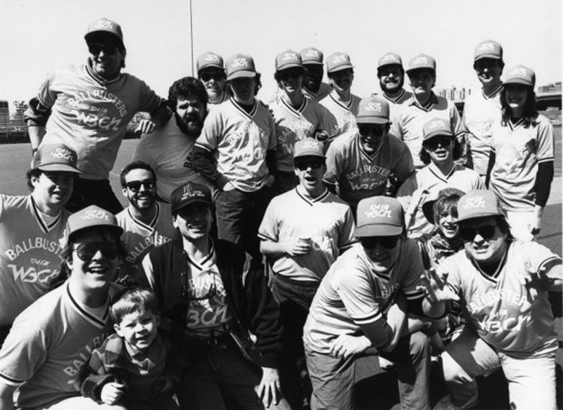 WBCN FM Radio Baseball Team vs. Huey Lewis and the News • 1986